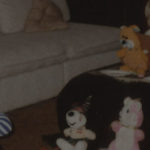 Lonely Child with Stuffed Animals